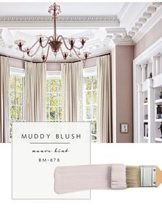Elle's Room Our Top Color Palette Trends Spring 2017 - Muddy Blush (aka Mauve! Interior Paint Colors 2017, Paint Colours 2017, Bedroom Paint Colors, Paint Colors For Home, Interior Design, Mauve Bedroom, Interior Ideas, Mauve Living Room, Blush Bedroom Decor