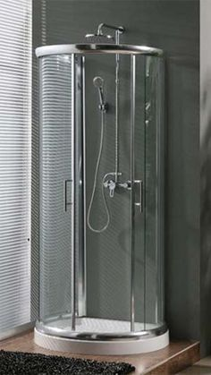 Milano D Shaped Shower Enclosure 900mm x 770mm One Wall Shower | JT Spas this site has a good selection