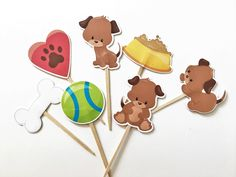 Puppy Dog Cupcake Toppers by DianasDen on Etsy