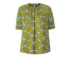 Orla Kiely   UK   clothing   SALE - Tops   Damask Flower Top (16SWDMF424)   sky