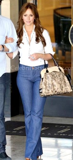 Jennifer Love Hewitt Style and Fashion - MiH Marrakesh Flare Jeans - Celebrity Style Guide