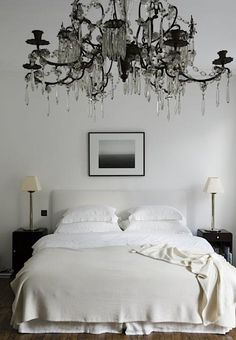 Rose Uniacke minimal traditional eclectic contemporary bedroom neutral black and white