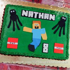 Minecraft sheet cake |  - Springboro, Ohio - Tiffany's Creative Cakes