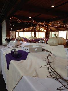 Purple and gray weddings
