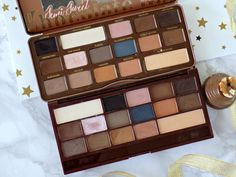 Splurge or save? Too Faced SEmi Sweet Chocolate Bar palette vs Makeup Revolution Salted Caramel