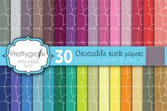 crocodile animal print digital paper by Prettygrafik Design on @creativemarket