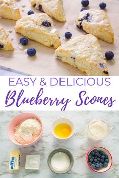 Easy, delicious, moist Blueberry Scones you can Bake from Scratch! Made with Fresh Blueberries! Perfect with Lemon Glaze or Slather with Butter! Includes Video Tutorial | Simply Bakings | Bake in just 30 Minutes! #blueberrysconesrecipe #blueberrysconesrecipeeasy #blueberrysconeseasy