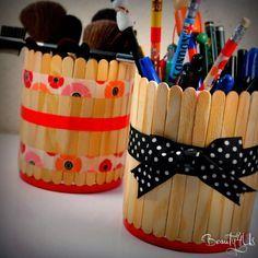 Beauty4Us: DIY: Porta Lápis com palito de sorvete