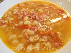 Sopa de carne con pasta