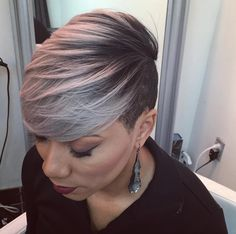 Love This Gray by @hairbylatise - http://community.blackhairinformation.com/hairstyle-gallery/short-haircuts/love-this-gray-by-hairbylatise/
