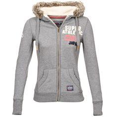 Decididamente, ¡la sudadera gris está de moda esta temporada! Compuesta de algodón (60%) y poliéster (40%) , te dará un look lleno de carácter y además está firmada por #Superdry. Decididamente, esta prenda te va a encantar. #moda #mujer #sport #spartoo