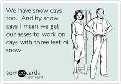 Nurses don't get snow days!...or hurricane days