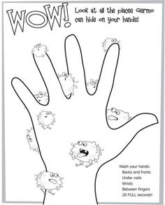 Looking for a Hand Washing Coloring Pages For Kids. We have Hand Washing Coloring Pages For Kids and the other about Emperor Kids it free. Name Activities, Health Activities, Activities For Kids, Hygiene Lessons, Health Lessons, Health Lesson Plans, Preschool Printables, Preschool Worksheets, Germs For Kids