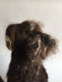 Needle felted Labradoodle by Emma Herian // Sew Recycled