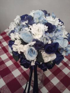 Wedding bouquet I created with blue theme