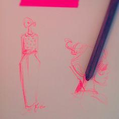 neon sketches.. paper fashion