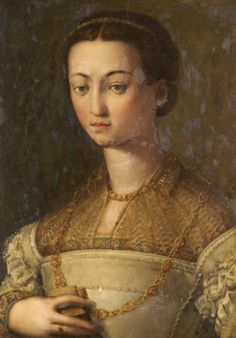 Tatton Park © National TrustAn Unknown Lady (?a member of the Medici family)  manner of Agnolo Bronzino (Monticelli 1503 – Florence 1572) National Trust Inventory Number 1298176 Category 	Paintings Date 	1530 - 1569 Materials 	Oil on panel (softwood) Measurements 	648 x 470 mm (25 1/2 x 18 1/2 in)