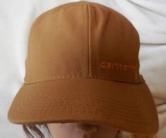 Mens Carhartt Brown Khaki Tan Baseball Cap Hat ~  one size fits all adjustable…