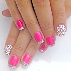 I like just the pink w/silver tips...so pretty!!
