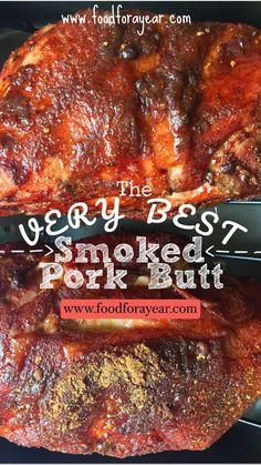 Pork Rib Recipes, Corned Beef Recipes, Smoked Meat Recipes, Smoked Pork, Pellet Grill Recipes, Grilling Recipes, Cooking Recipes, Cooking Pork, Smoker Recipes