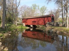 Many PA covered bridges are shown here. Only BARTRAM'S BRIDGE (GOSHEN BRIDGE) is near Philly. Crum Creek, W of Newtown, Legislative Rte 15098