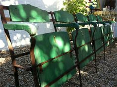 Antique cinema chairs