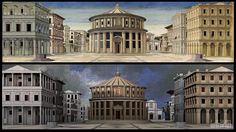 3D Model of the italian anonymous painting from the XVth century, The Ideal City (Urbino). Modelled with Autodesk Maya.