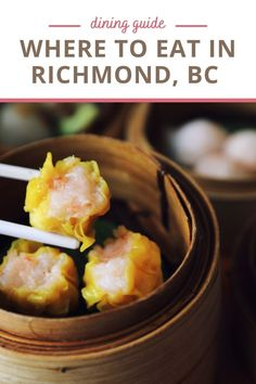 Richmond, British Columbia is an Asian food paradise. With over 800 restaurants, there's something for everyone. We're sharing where to find the best Richmond restaurants for hungry foodies and families. Bbq Pork, Pork Roast, Indian Samosas, Richmond Restaurants, Hainanese Chicken, Vancouver Travel, Ramen Bowl, Japanese Sushi, Spicy Chili
