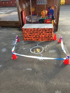 Nursery Rhymes. Humpy Dumpty crime scene More