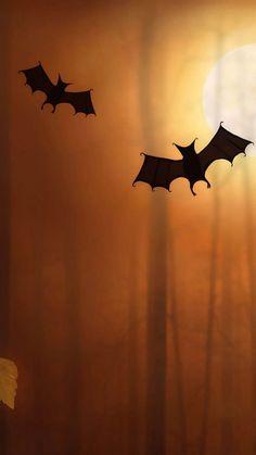 Cute Bats Halloween Illustration IPhone 6 Wallpaper