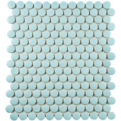 Merola Tile Metro Penny Matte Light Blue 9-3/4 in. x 11-1/2 in. x 6 mm Porcelain Mosaic Tile (8 sq. ft. / case) - FXLMPML - The Home Depot