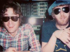 John Lennon with Harry Nilsson 1974