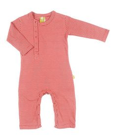 Love this Rose Stripe Una Organic Playsuit - Infant on #zulily! #zulilyfinds