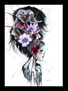 tete fleurie