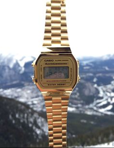 Keeping it classic with the Gold vintage Casio watch - available at…