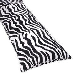 Sweet Jojo Designs Microsuede Zebra Animal Print Full-length Double Zippered Body Pillow Cover - 15004732 - Overstock.com Shopping - Great Deals on Sweet Jojo Designs Pillowcases & Shams