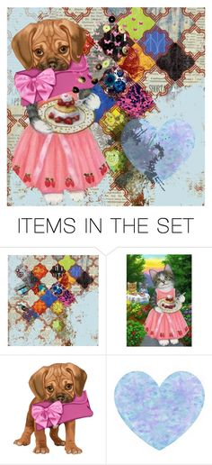 """""""Puppy love"""" by perpetto ❤ liked on Polyvore featuring art"""