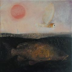 "catherine hyde‏    'The carp in his depth' from ""The warm and the cold"" Hughes"