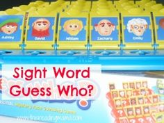Sight Word Guess Who? with FREE printable game boards based on the Dolch sight word lists Sight Word Worksheets, Sight Word Games, Sight Word Activities, Reading Activities, Classroom Activities, Activities For Kids, Language Activities, Classroom Fun, Kindergarten Language Arts