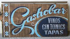 tipografía, lettering, food, ilustration,signpainting, pintado a mano,  rotulismo, pizarra, menu, vintage, madera, wood, gastrobar