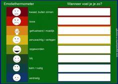 Emotiethermometer, Met deze emotiethermometer kun je kinderen leren om hun…