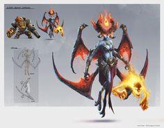 Lilith - Infernals, Max Hugo on ArtStation at https://www.artstation.com/artwork/ozzXk