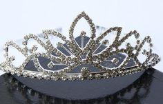 Corona de la Tiara Nupcial, corona nupcial, Tiara de diamantes de imitación, Tiara cristalina, peine nupcial Tiara, accesorios cabello novia, joyería nupcial
