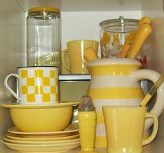 Yellow Vintage Glass