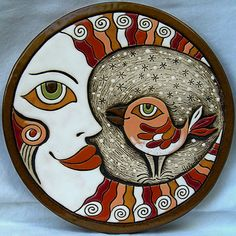 White Moon Ceramic Picture
