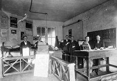 Florida Memory - Men in office of Messer Motor Company - Madison, Florida