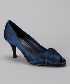 Take a look at this Navy Bowie Peep-Toe Pump by Chinese Laundry on #zulily today!