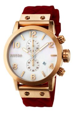 Brera 'Isabella' Round Chronograph Silicone Strap Watch, 42mm gifters.com brera watches