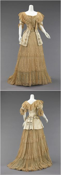 Evening dress by Rouff, c. 1895, at the Met. See: http://www.metmuseum.org/collections/search-the-collections/157153?img=0