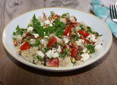 5 or less: Couscous met pistache en feta Couscous, My Favorite Food, Favorite Recipes, Health Dinner, Cooking Recipes, Healthy Recipes, Salad Recipes, Good Food, Dinner Recipes